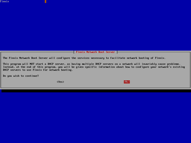 finnix-netboot-server